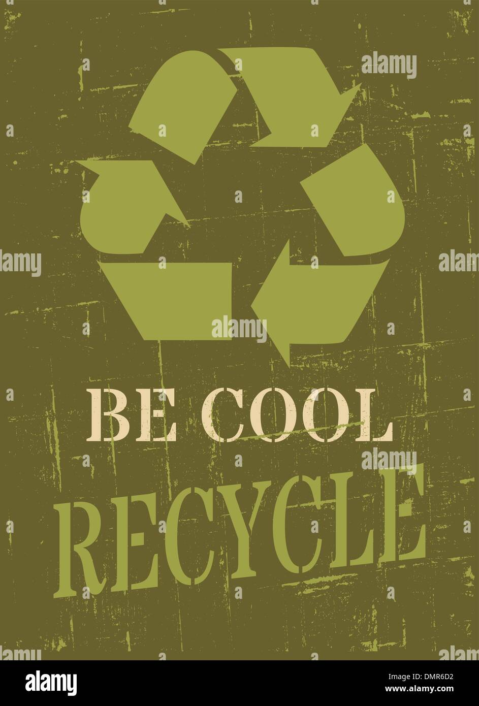 Recycle Symbol Poster - Stock Image