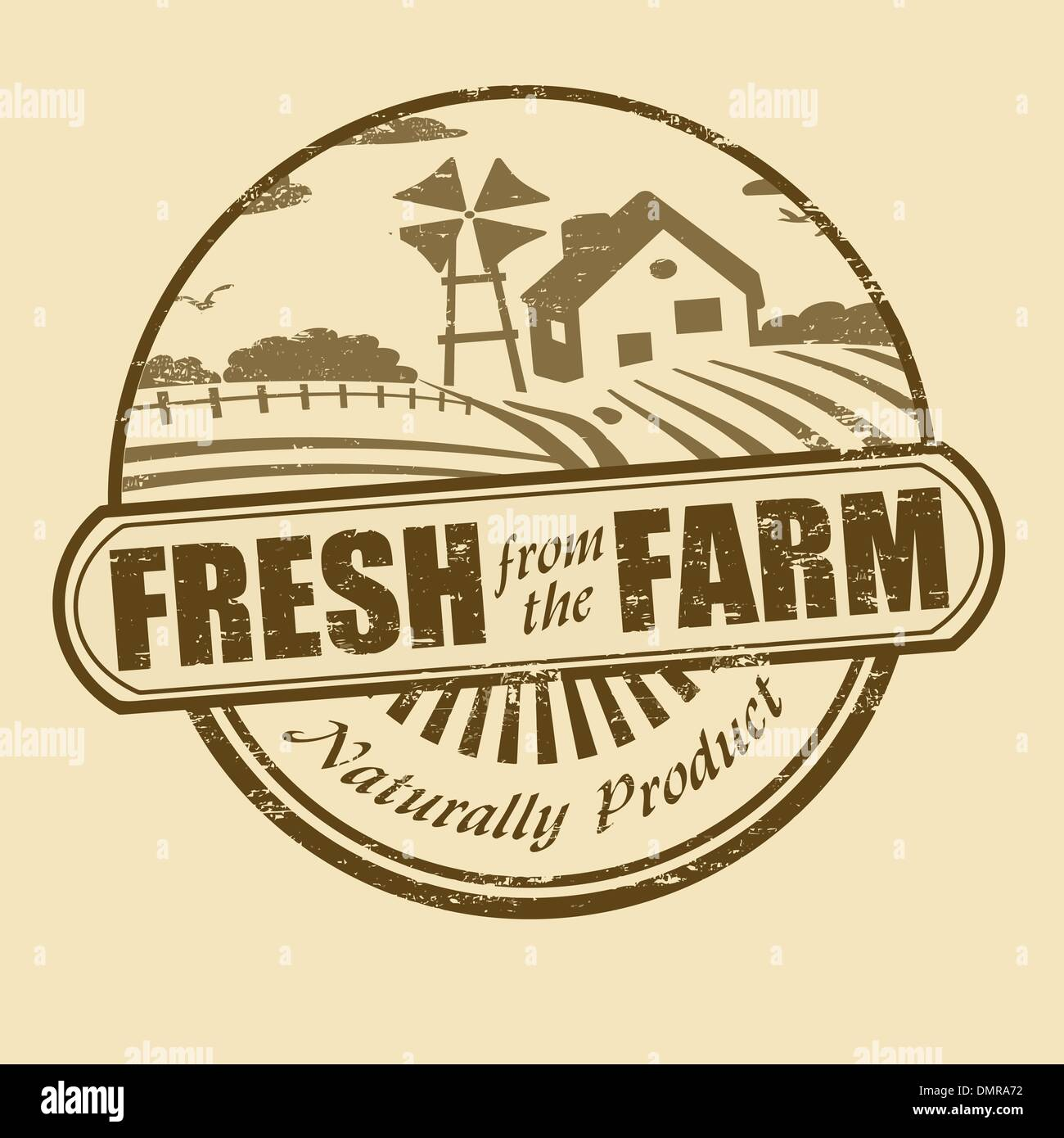 Fresh from the farm stamp - Stock Vector