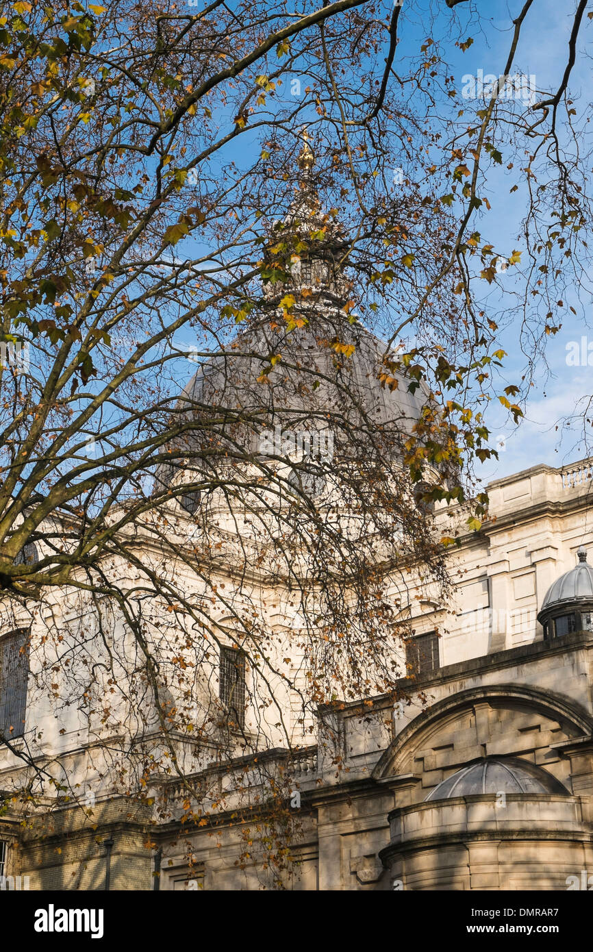 View of the dome of Brompton Oratory - Stock Image
