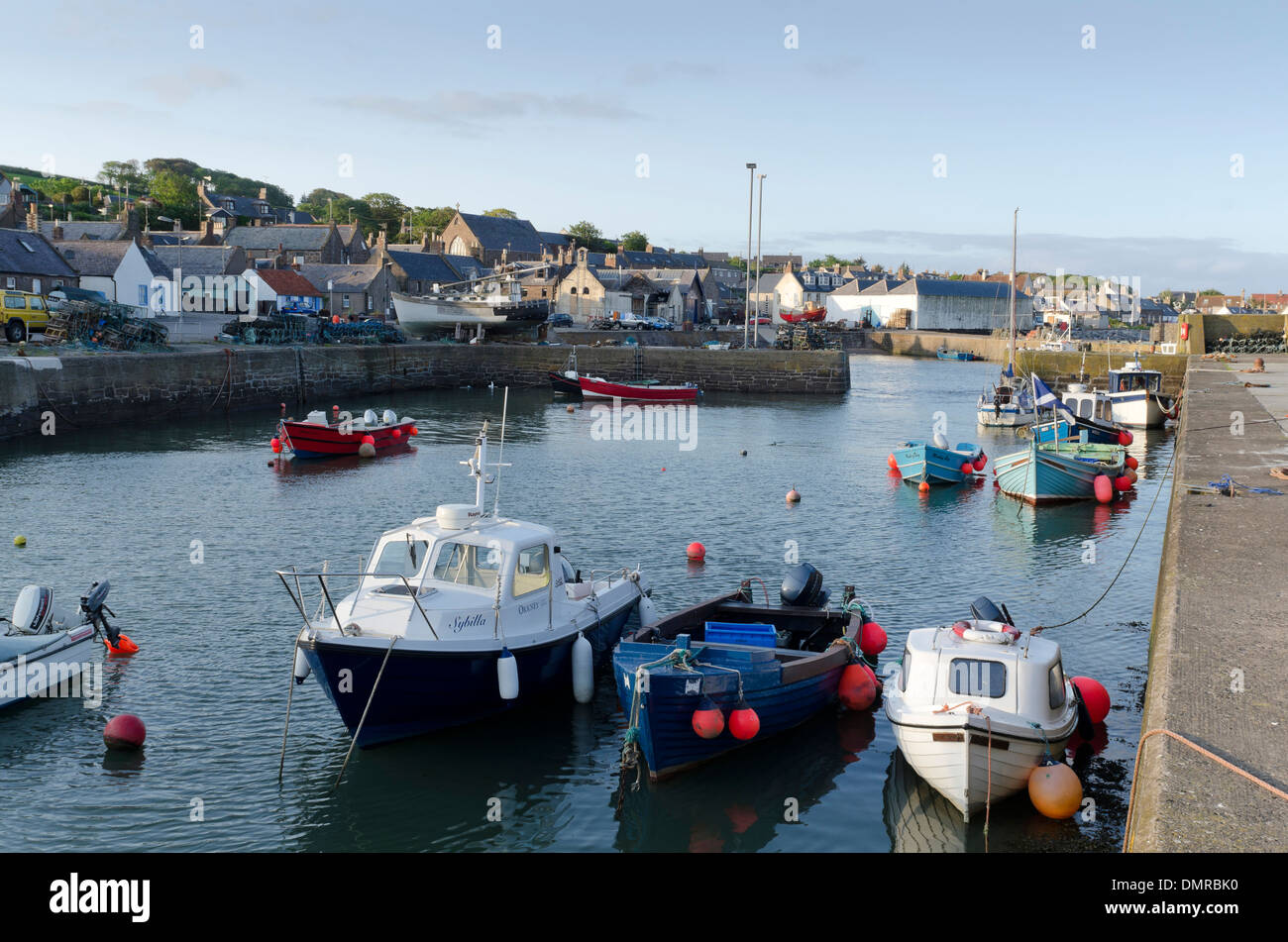 johnshaven Kincardineshire leisure moorings - Stock Image