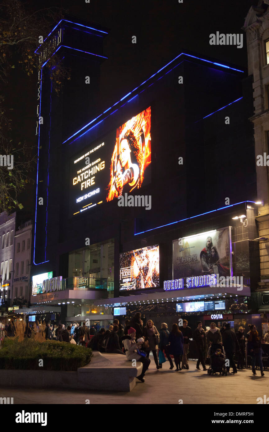Odeon Leicester Square, cinema in London, England, United Kingdom, UK - Stock Image