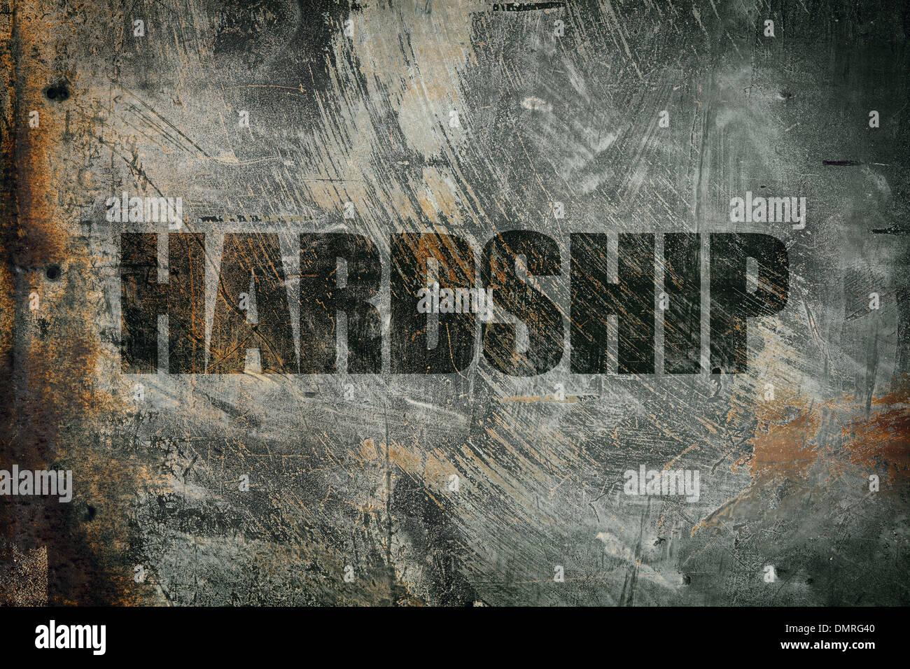 hardship - Stock Image