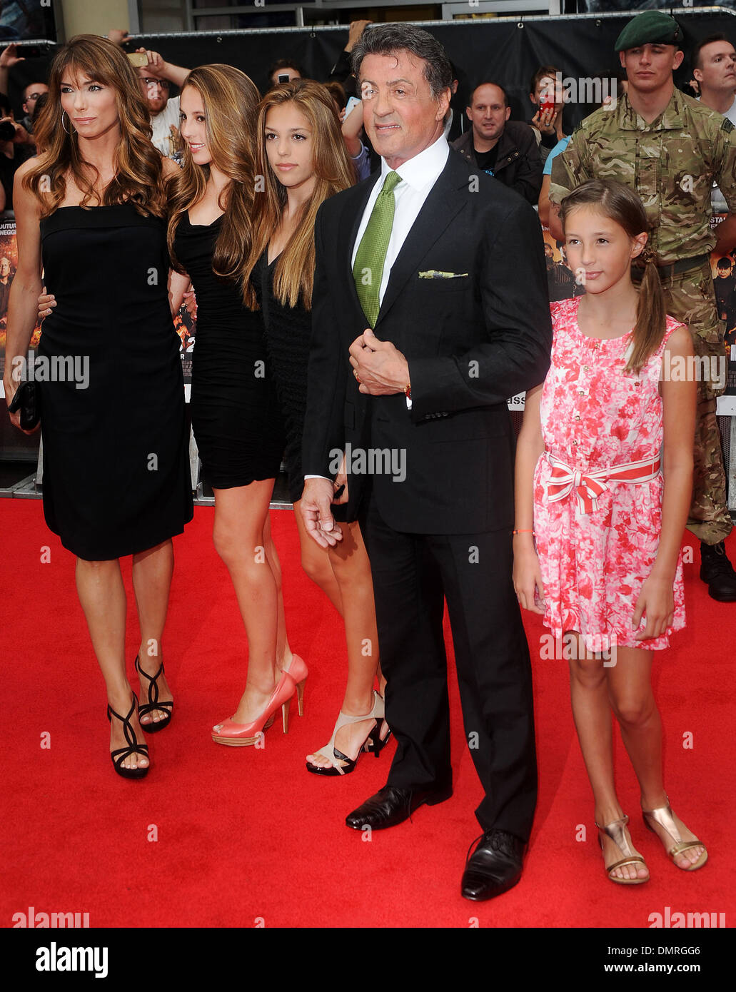 Sylvester Stallone Jennifer Flavin and family at 'The ...