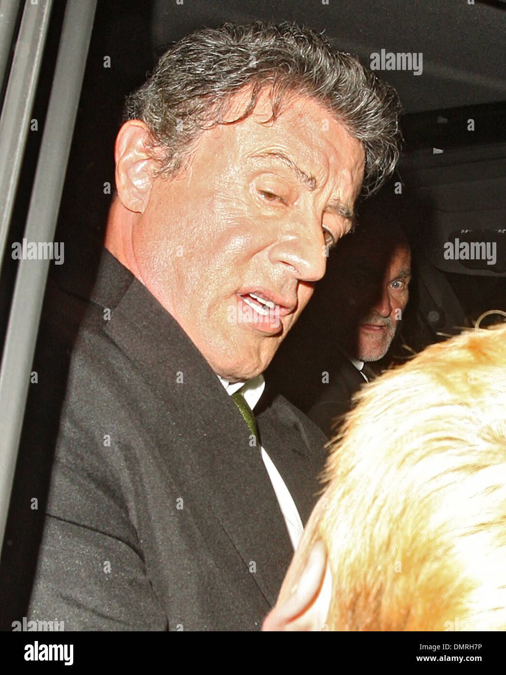Sylvester Stallone leaves Ivy restaurant However Expendables star was given a shock after getting in his waiting car when a - Stock Image