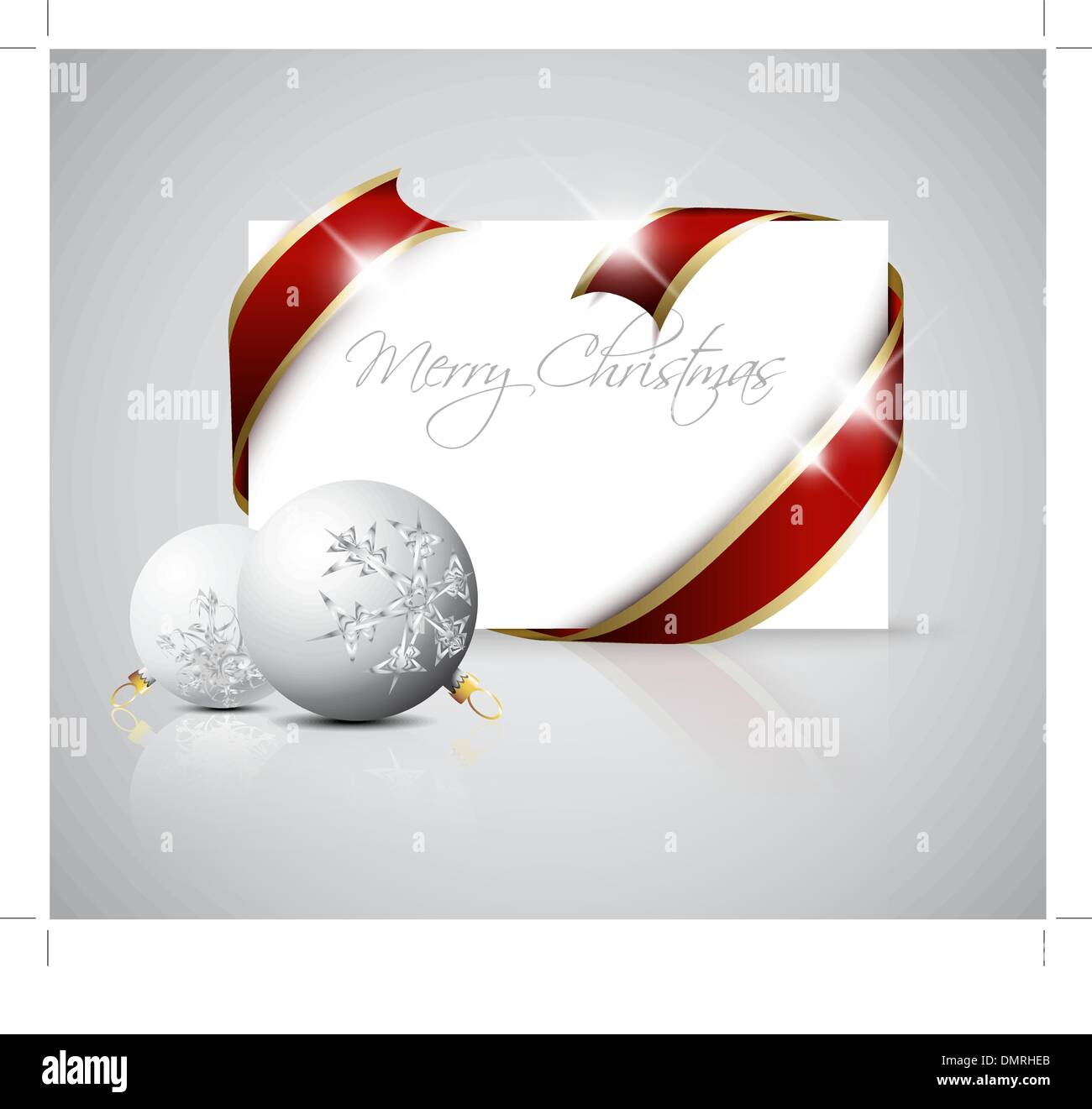 Christmas Card Paper Silver Stock Vector Images - Alamy