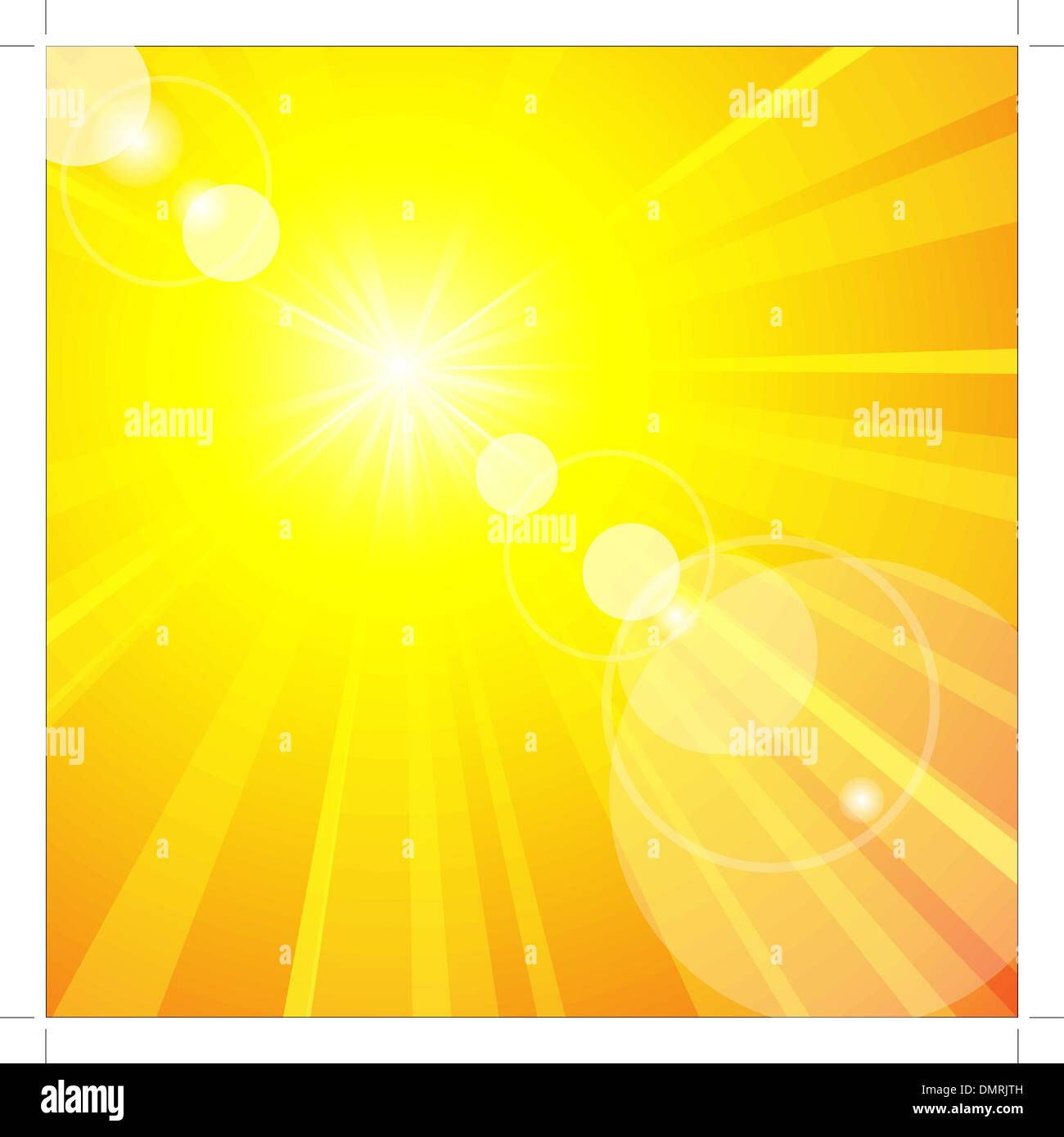 The hot summer sun - Stock Image