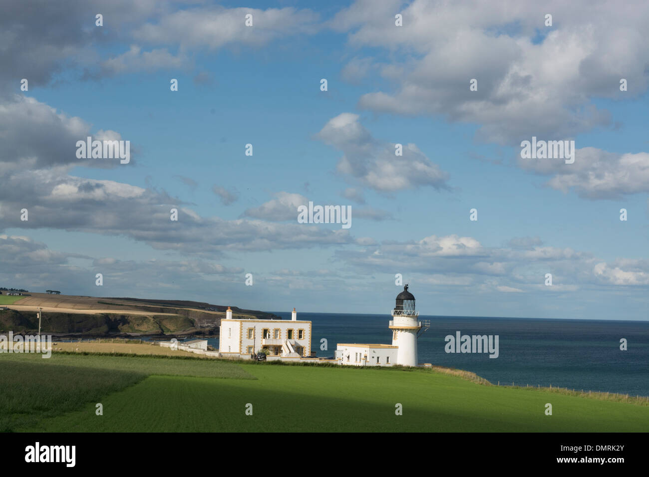 todhead lighthouse catterline stonehaven north sea - Stock Image