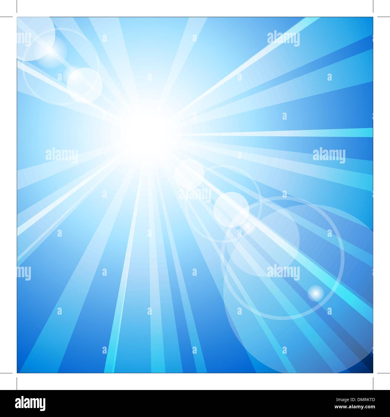 The hot summer sun - Stock Vector