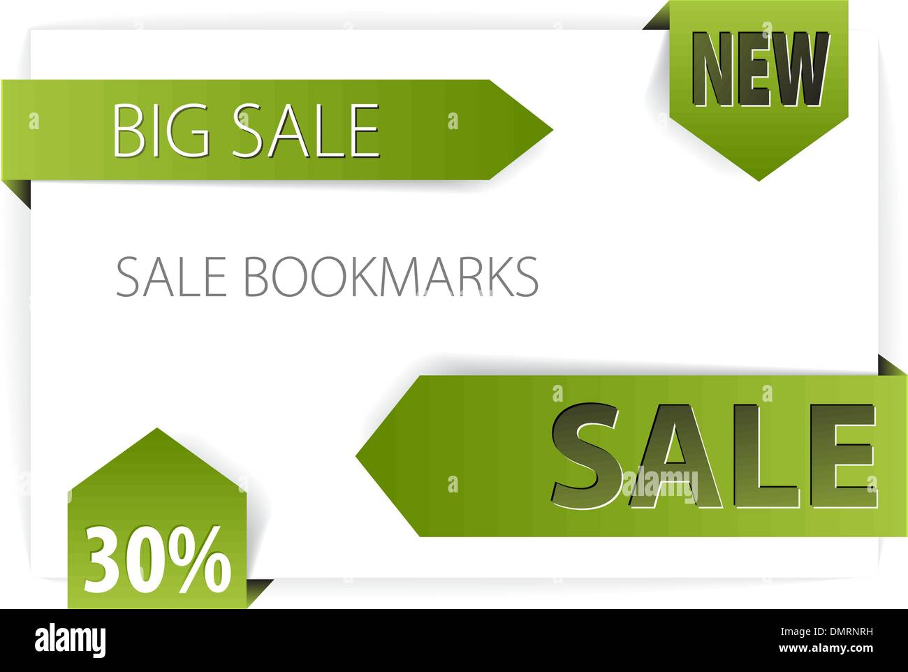 Sale announcements (tags, badges) - Stock Image