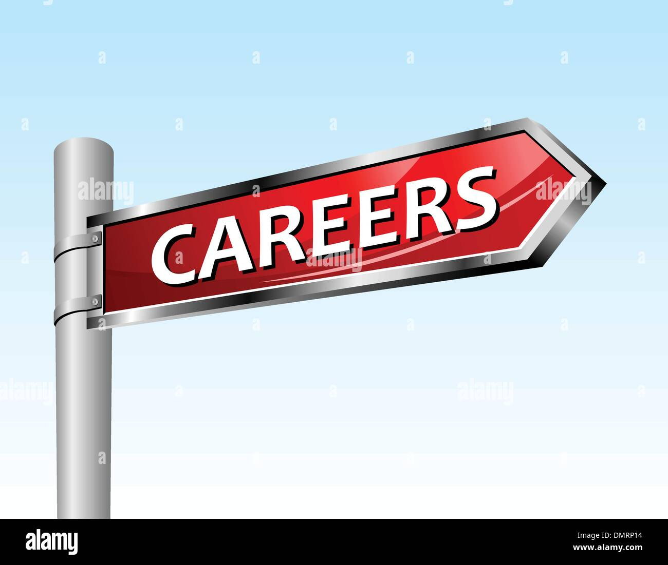Arrow road sign careers - Stock Vector