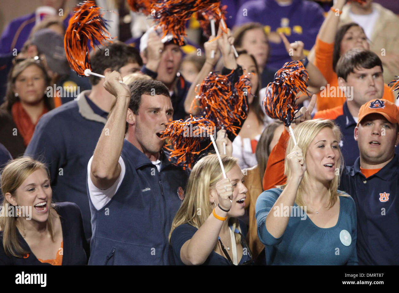 Auburn fans during the game between the Auburn Tigers and the LSU