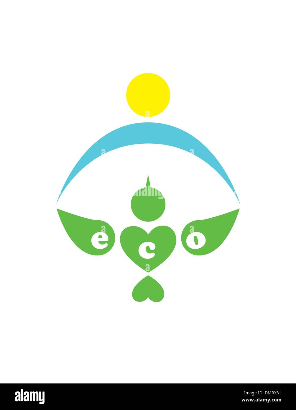 ecology logotype of bird - Stock Image