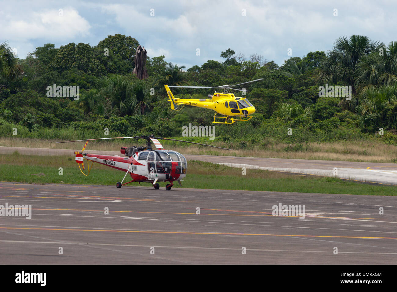 Eurocopter helicopter helicopters Alouette III Astar AS350 Stock Photo