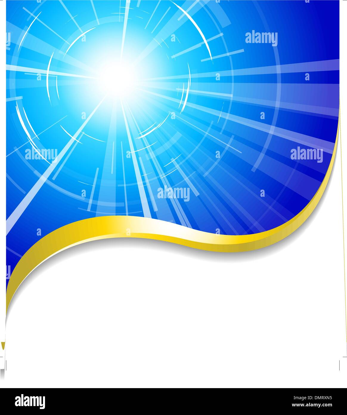 hot summer sun - Stock Vector