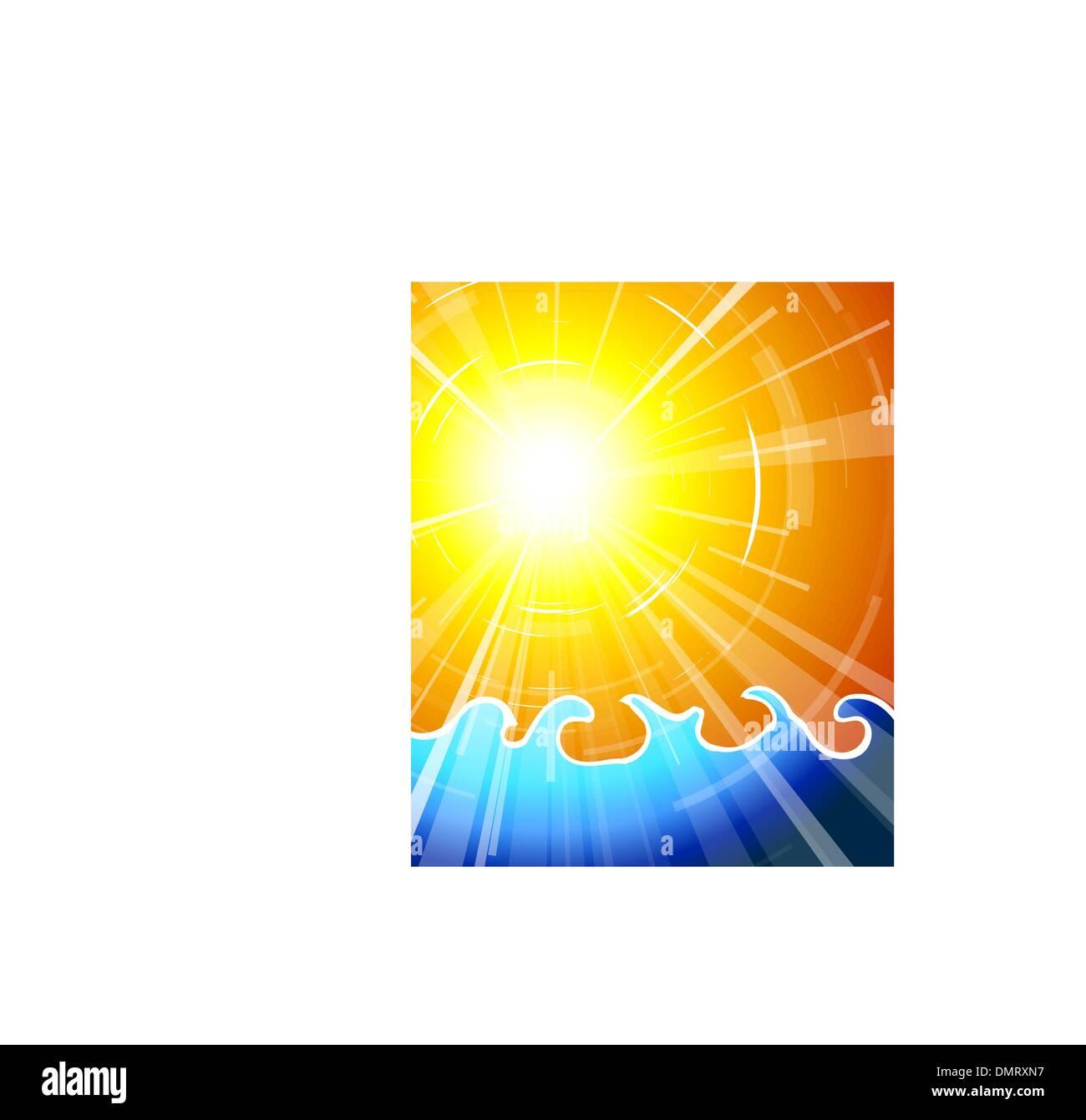 Really hot summer sun - Stock Image
