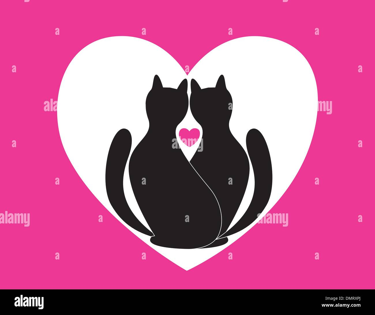in love cats - Stock Image