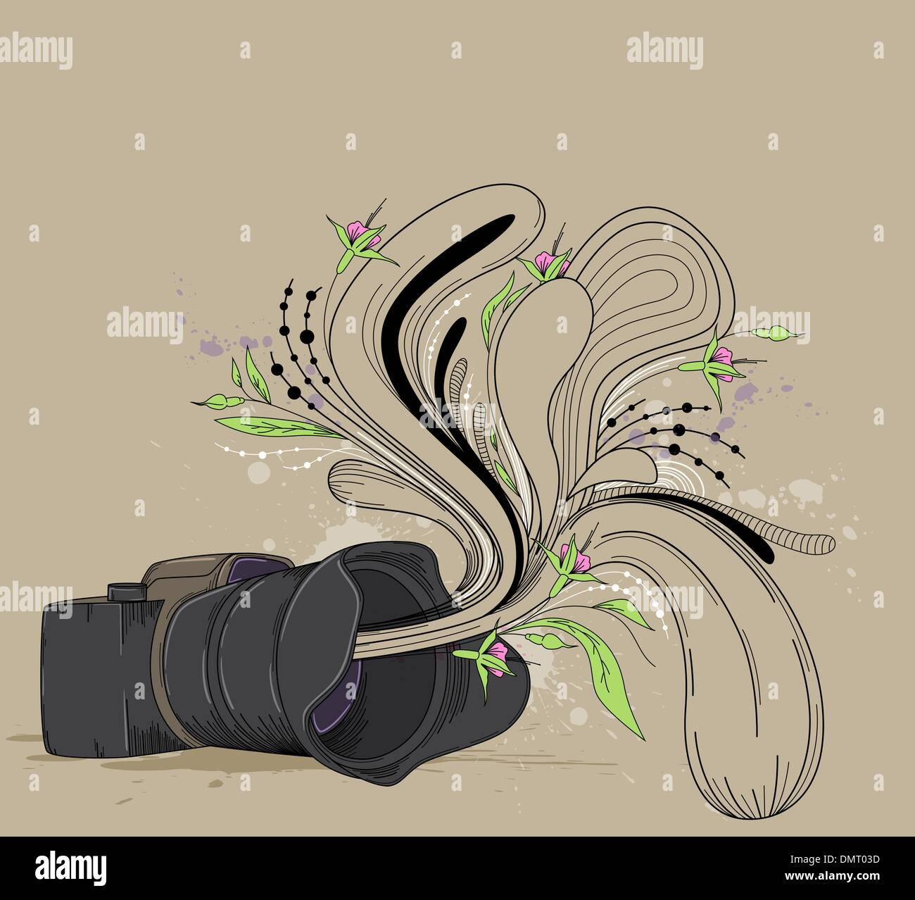 Abstract  background with camera - Stock Image