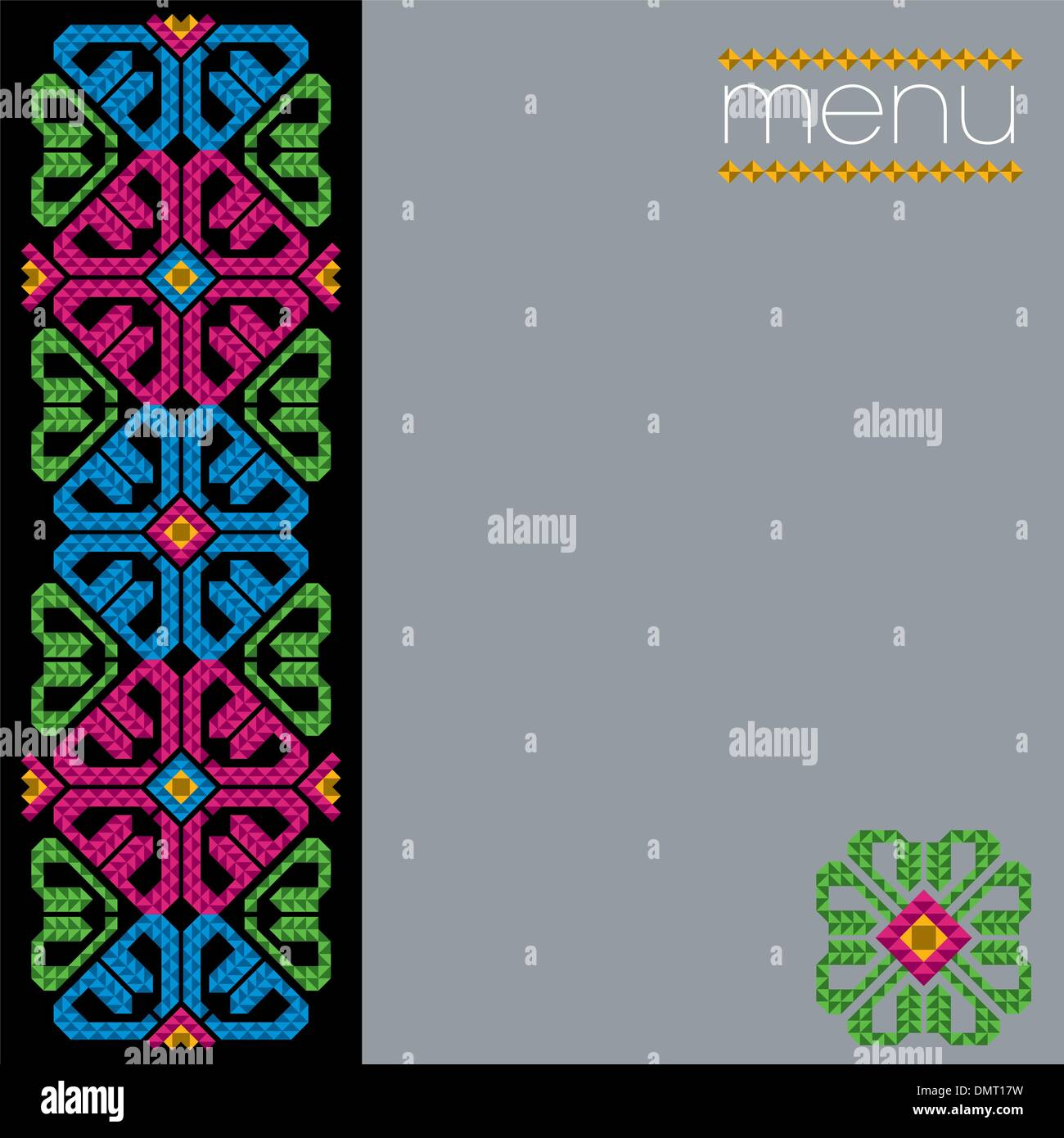 mexican restaurant menu cover design stock vector art & illustration