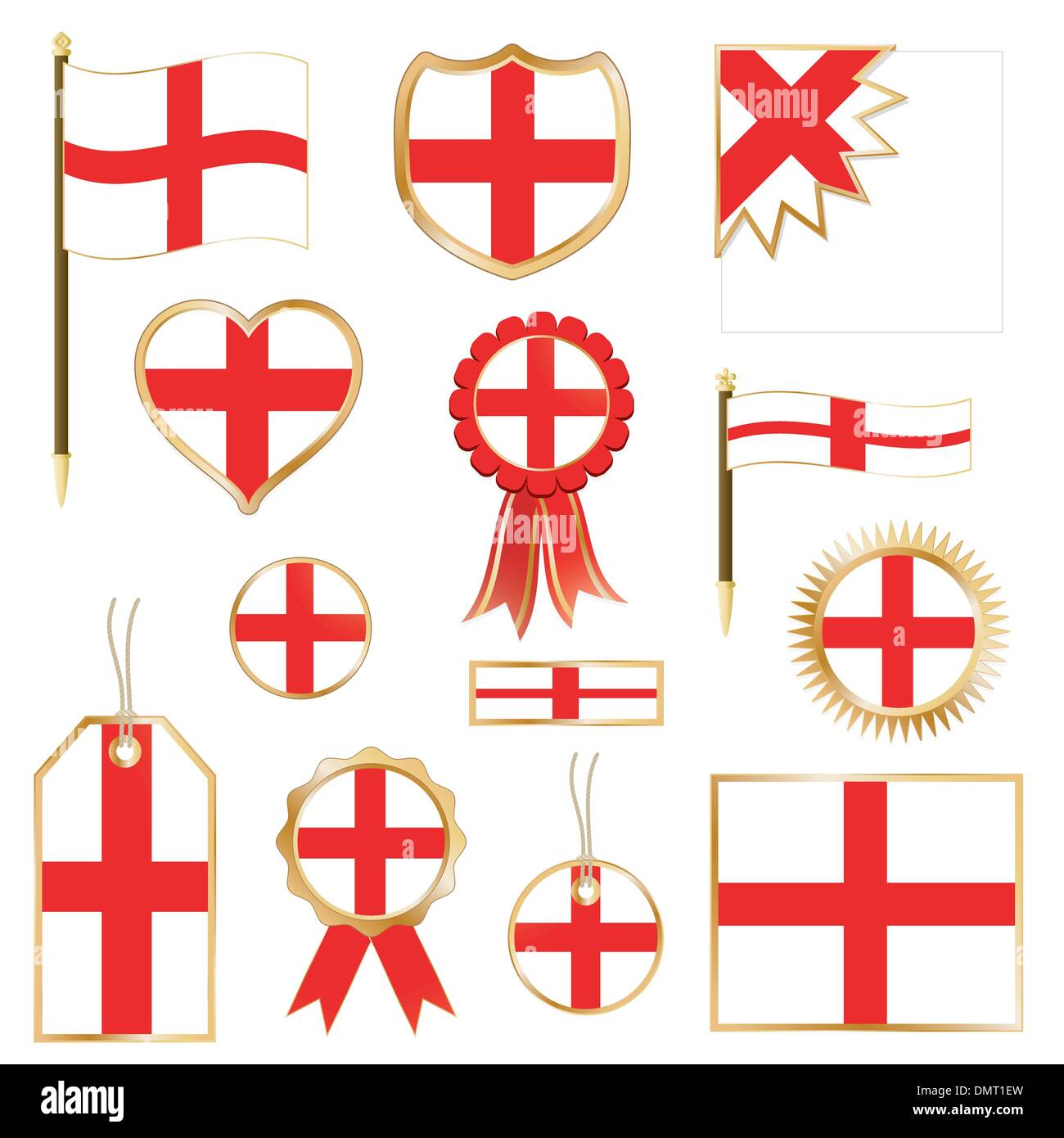 england flags - Stock Vector