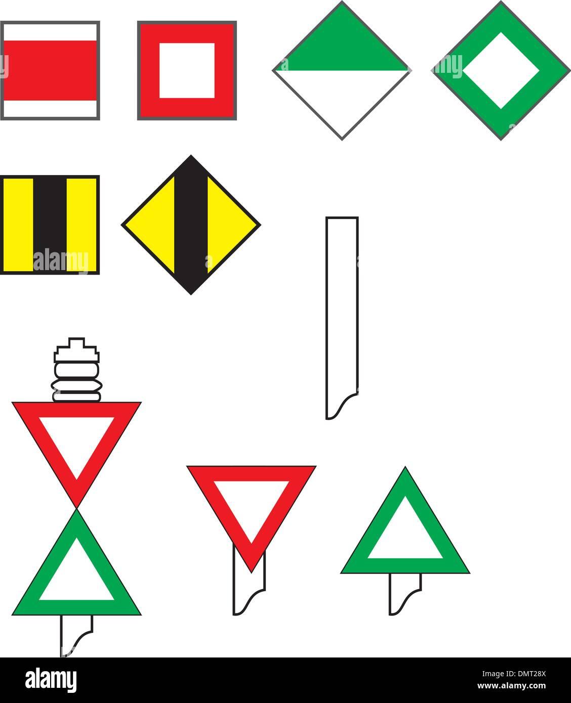 Signs River Navigation - Stock Vector