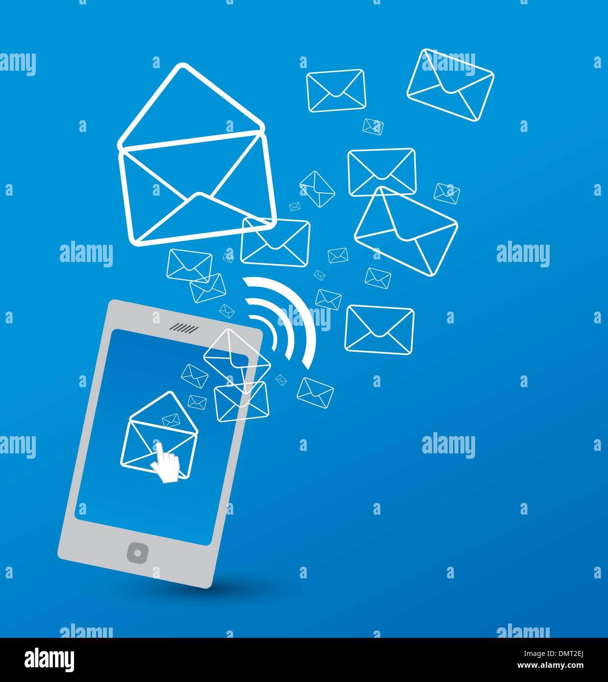 Sending SMS - Stock Image