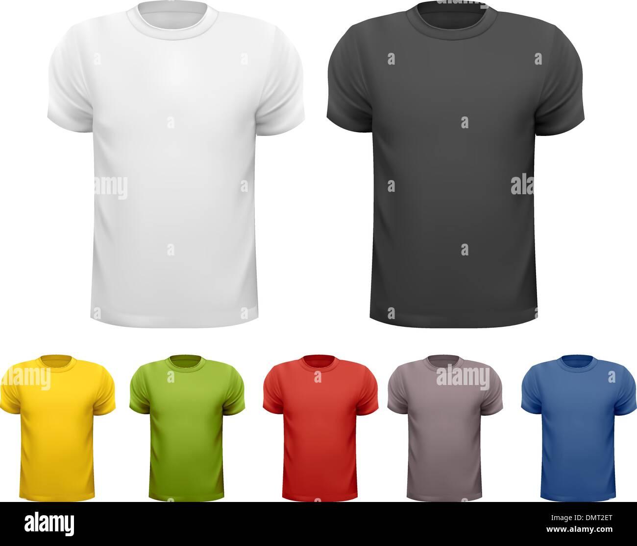 Black T Shirt Template Front Side Stock Photos & Black T Shirt ...