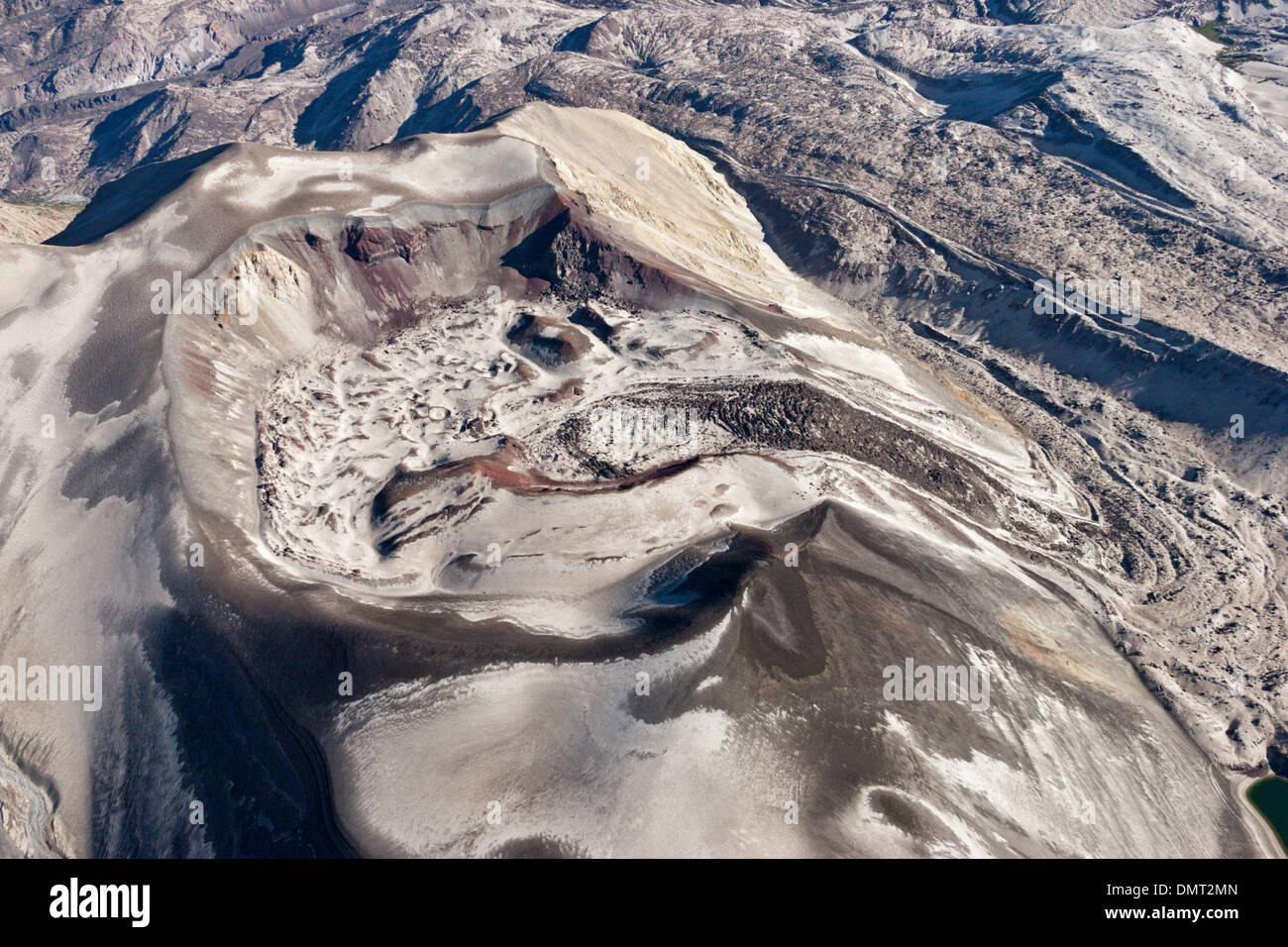 volcano Andes mountains Chile desolate colorful barren vents lava flow montanas Cero Azul Descabazado Volcano Stock Photo