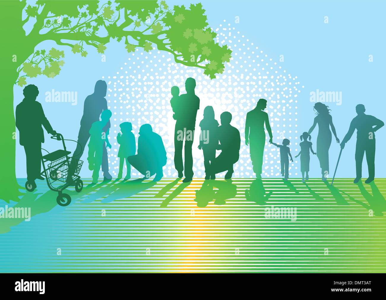 Generations of Families - Stock Vector