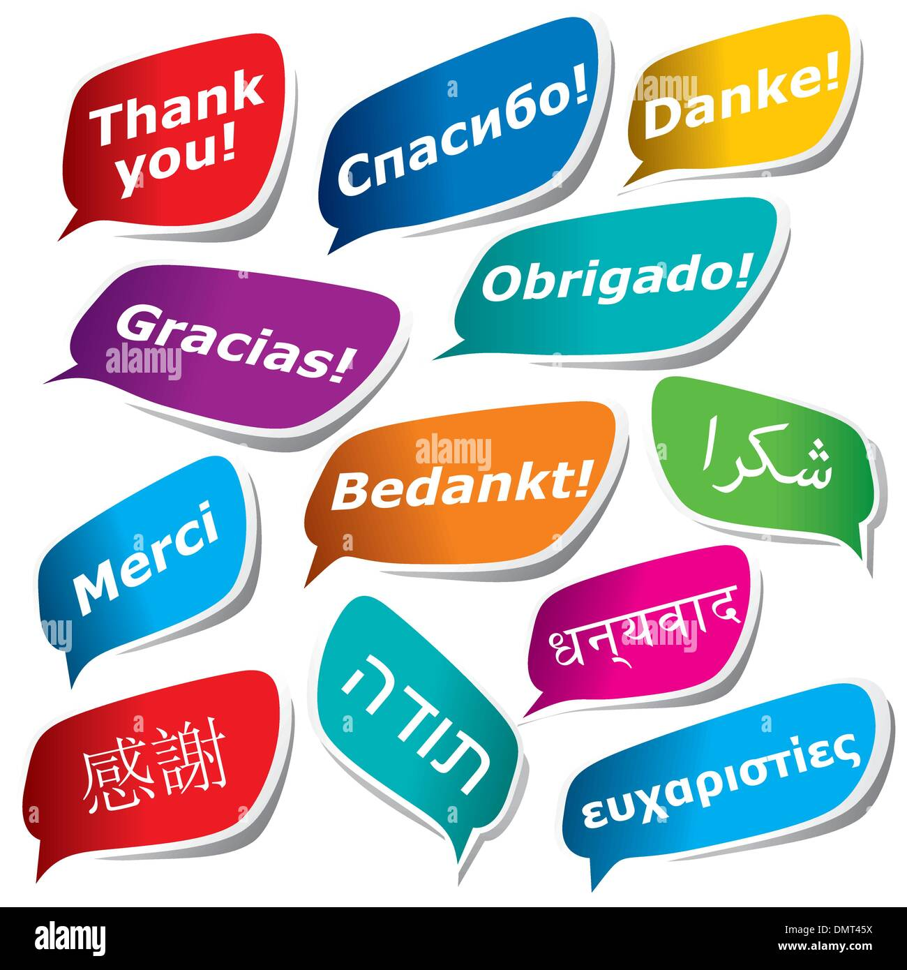 12 ways to say Thank You - Stock Image