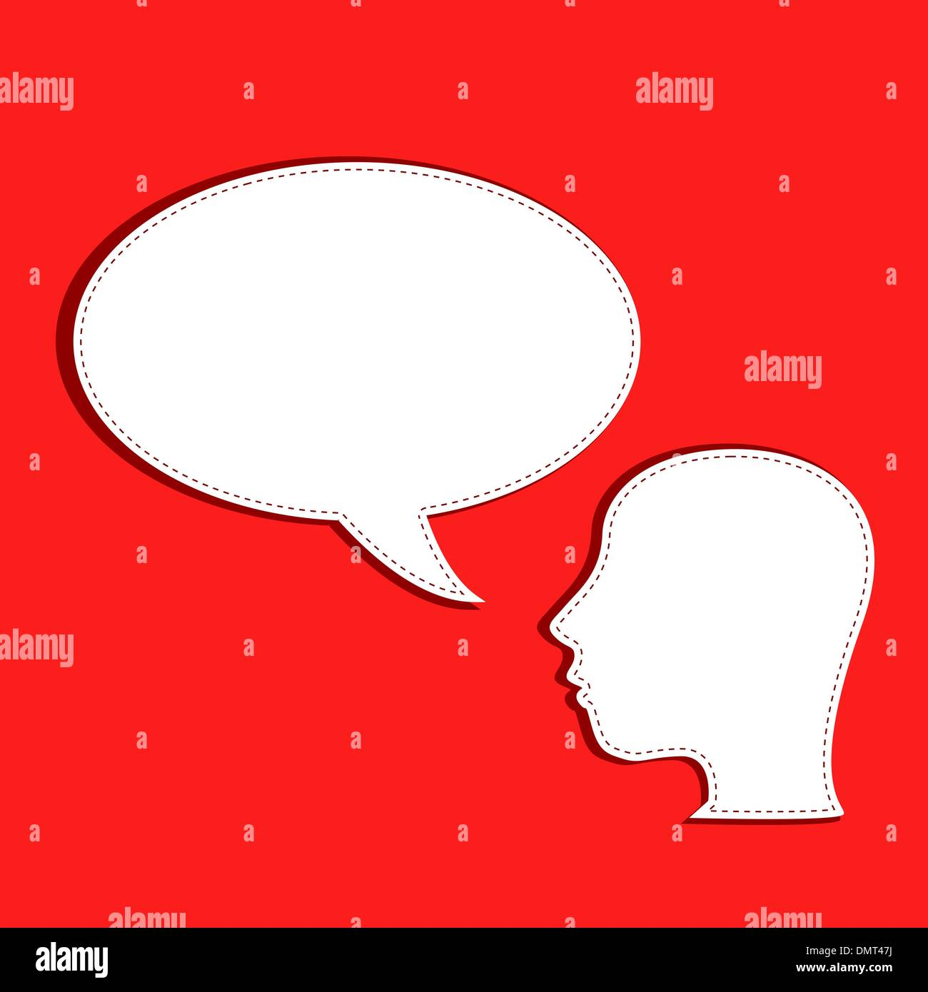 human talks in a speech bubble - Stock Vector