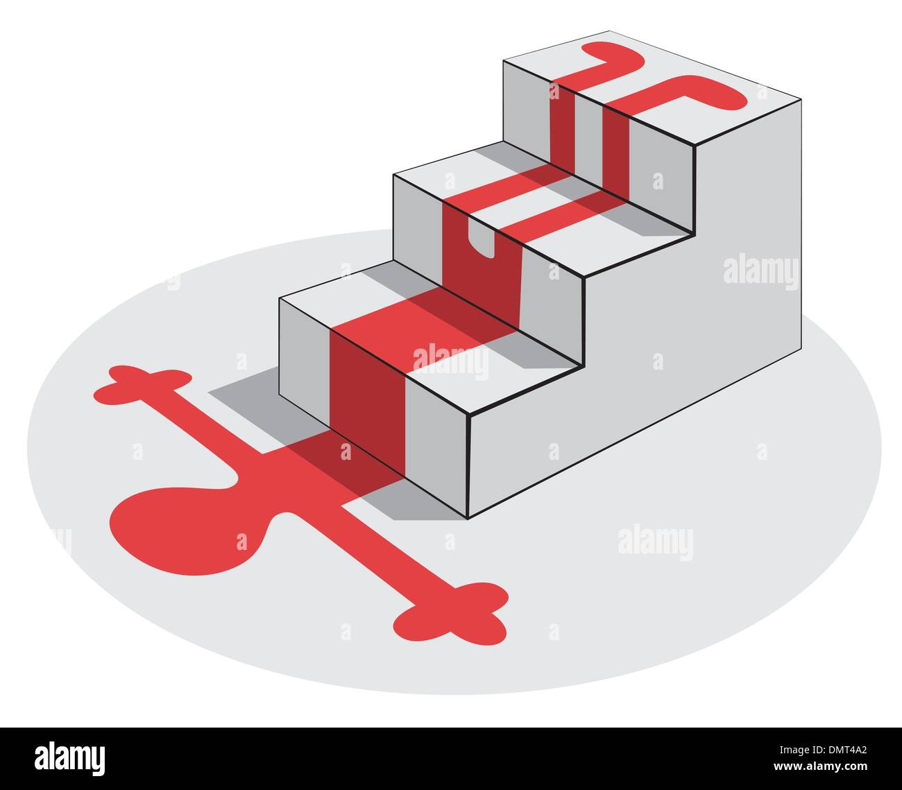 Fall from a staircase - Stock Vector