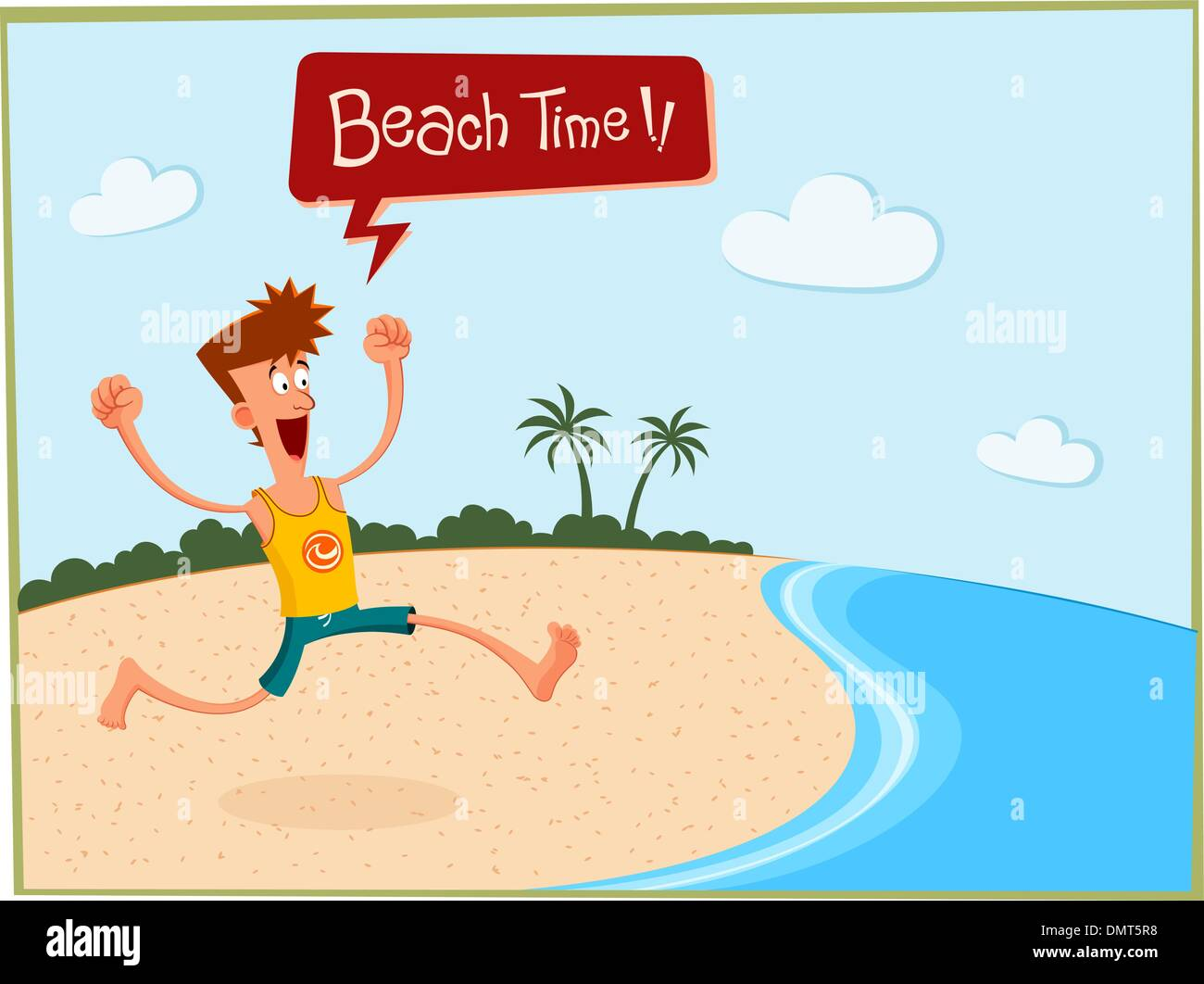 summer in the beach - Stock Vector