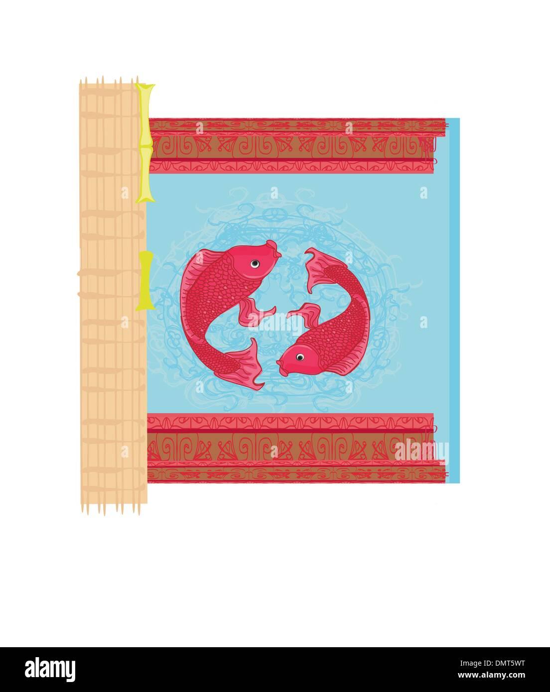 Japanese Koi Fish Chinese Carp Card Stock Photos & Japanese Koi Fish ...