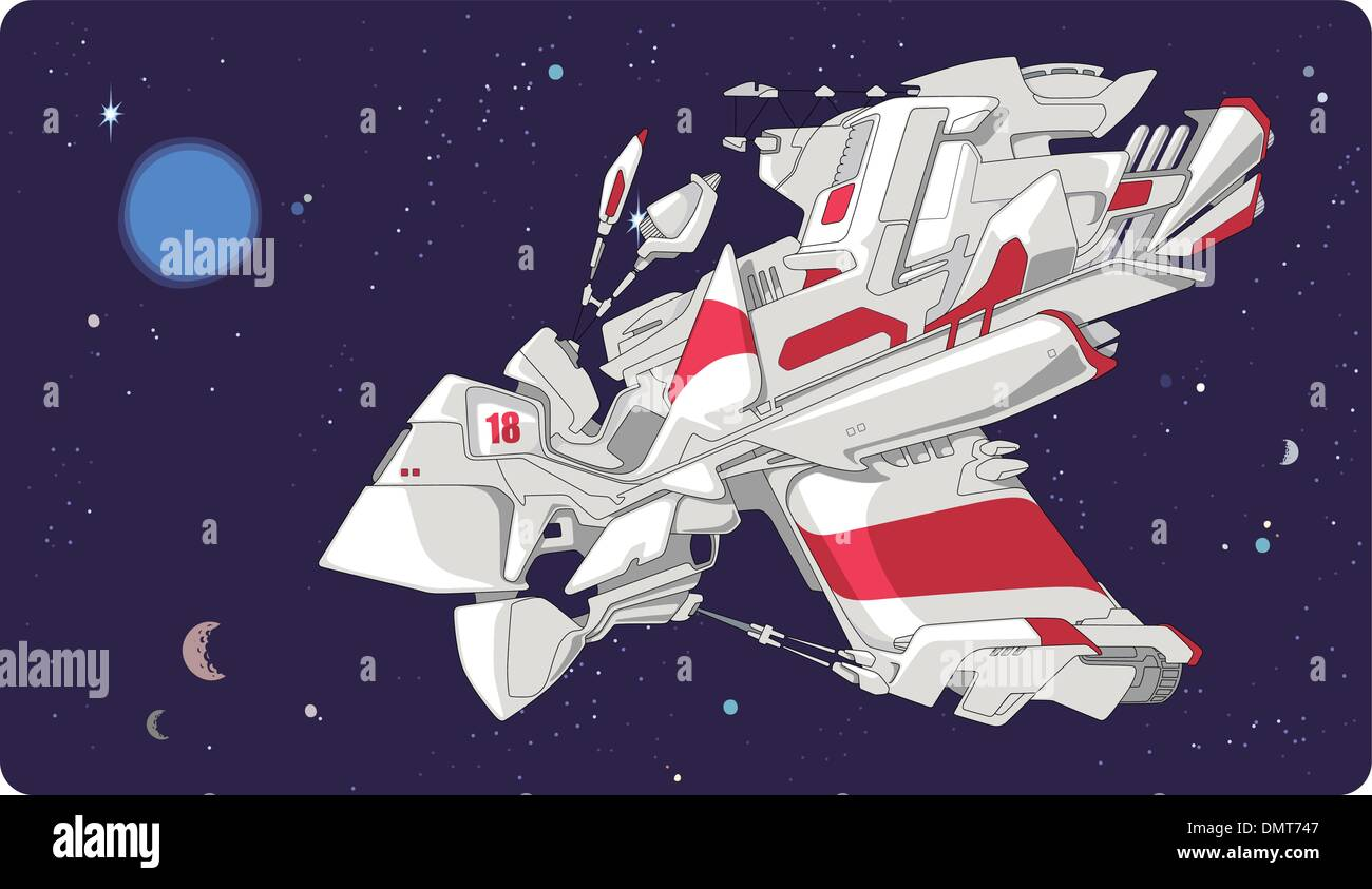 Concept of the spacecraft. - Stock Image