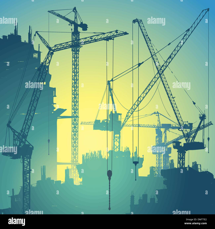 Tower Cranes - Stock Image