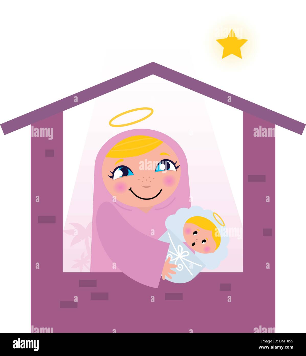 Virgin Mary With Child Stock Vector Images - Alamy