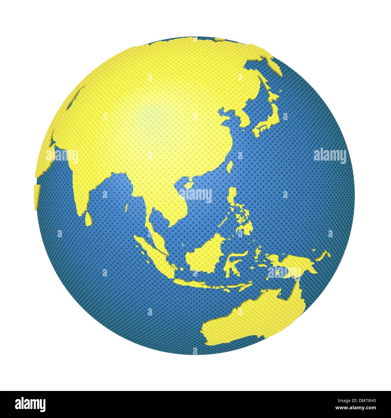 Globe with Asia and Australia - Stock Image