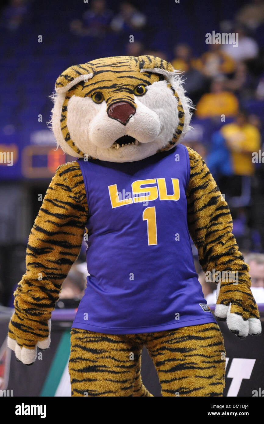 Lsu Mascot Mike The Tiger Works The Crowd During The Second Game