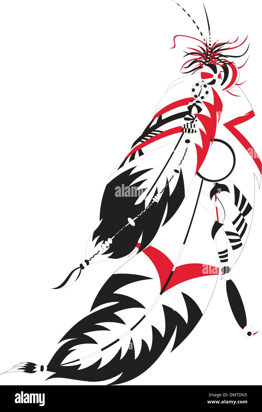 Indian feather - Stock Image