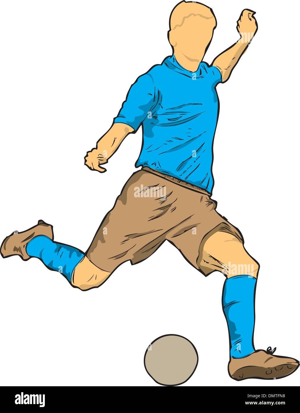 Footballer - Stock Vector