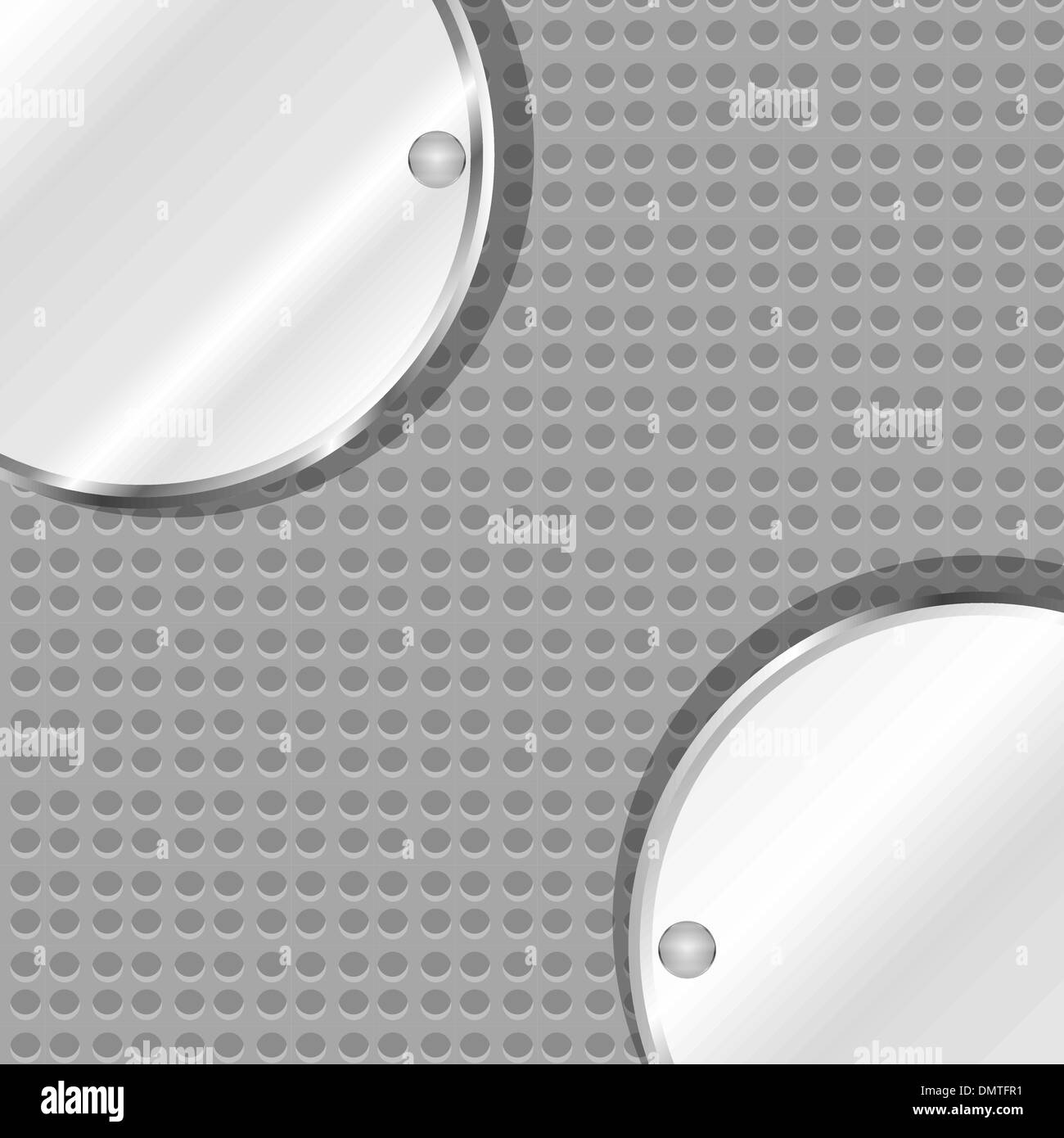 polished metal steel texture, vector background - Stock Image