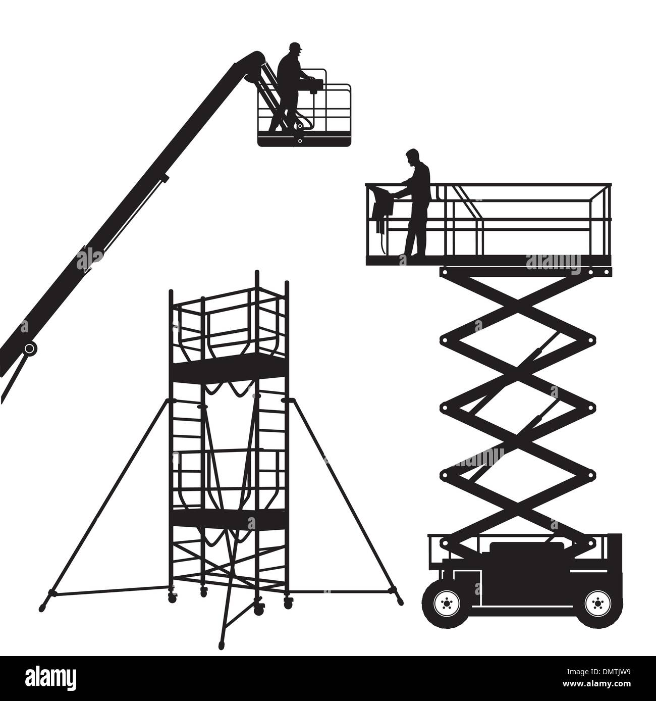 Lift and scaffolding - Stock Vector