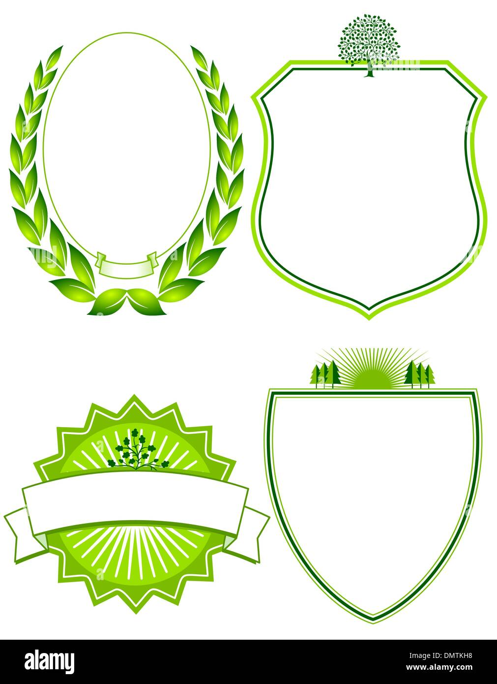 four Ecological arms and signs - Stock Image