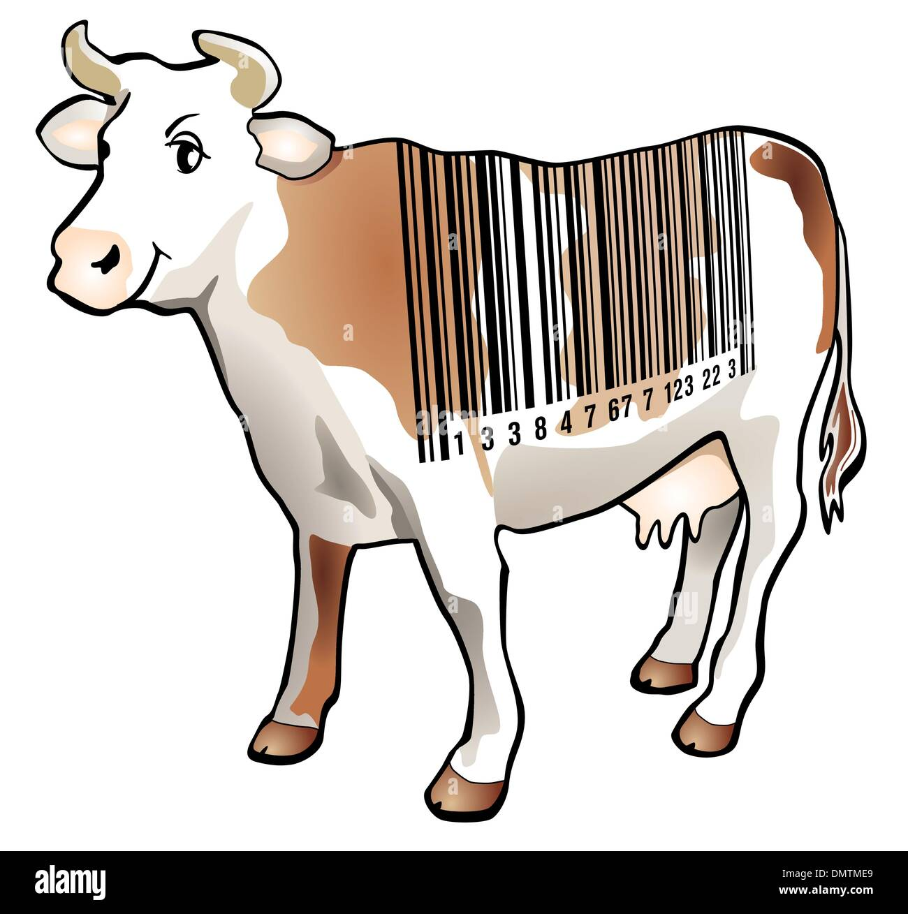 Scan cow - Stock Image