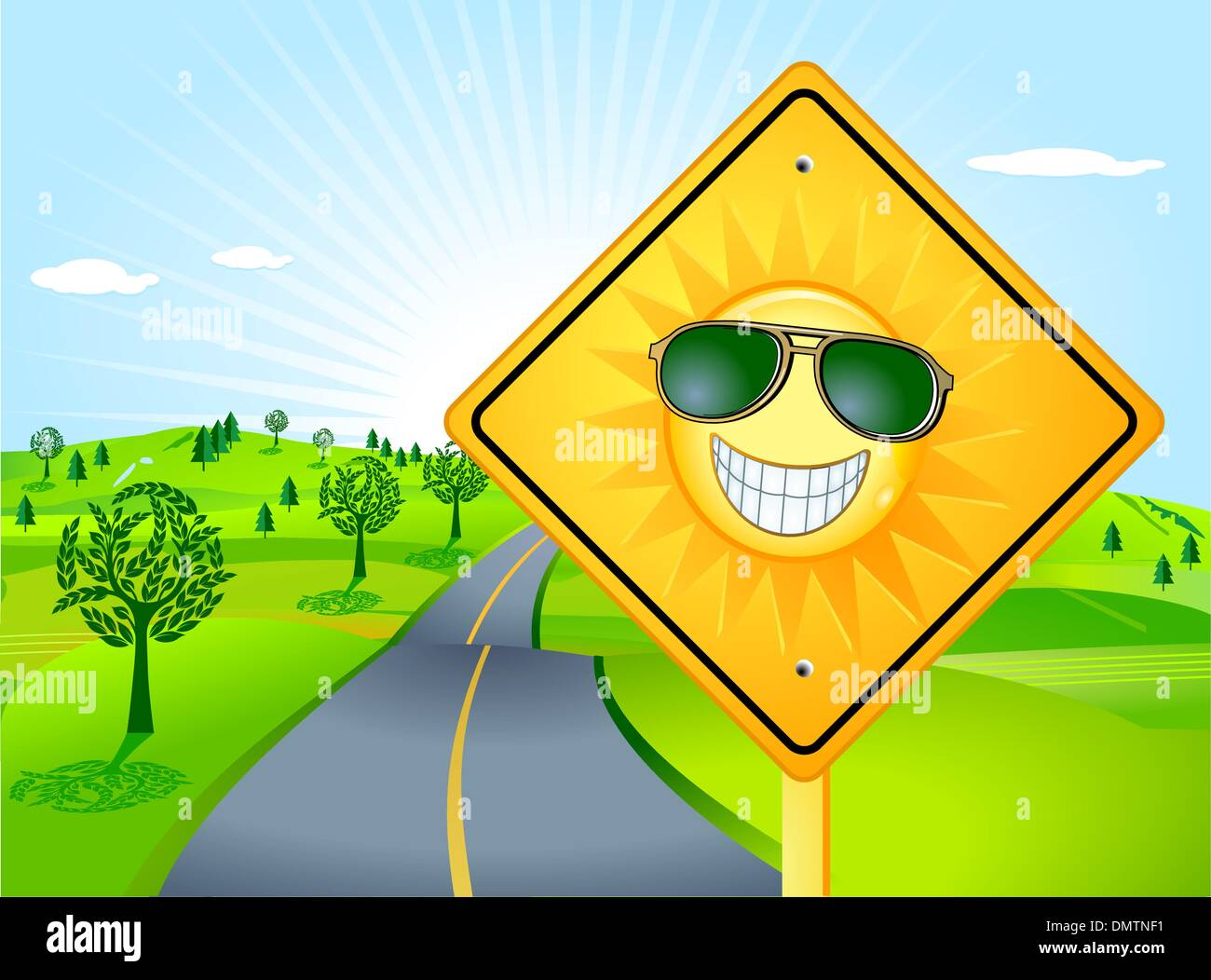 The Sun Shines - Stock Image