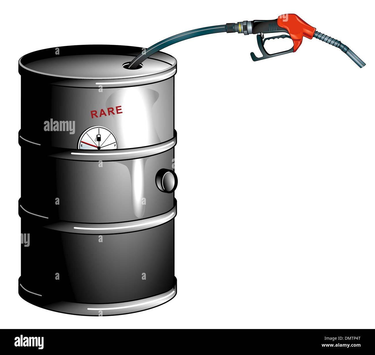 oil barrel is empty - Stock Image