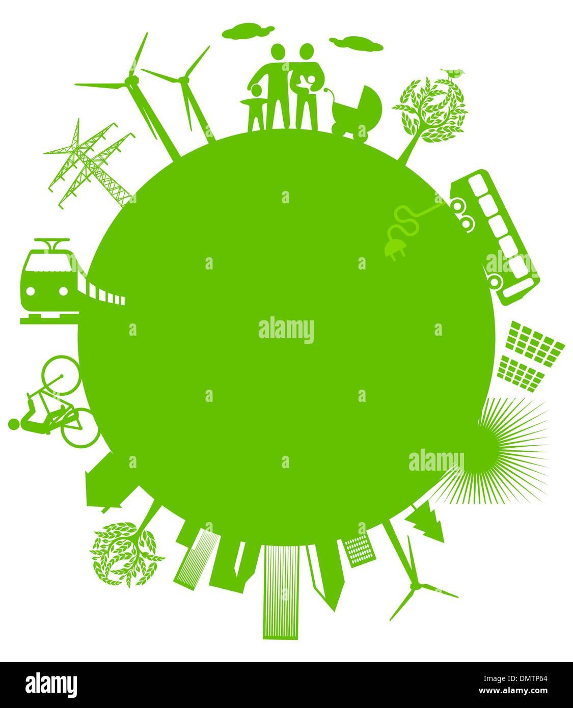 ecological world - Stock Image