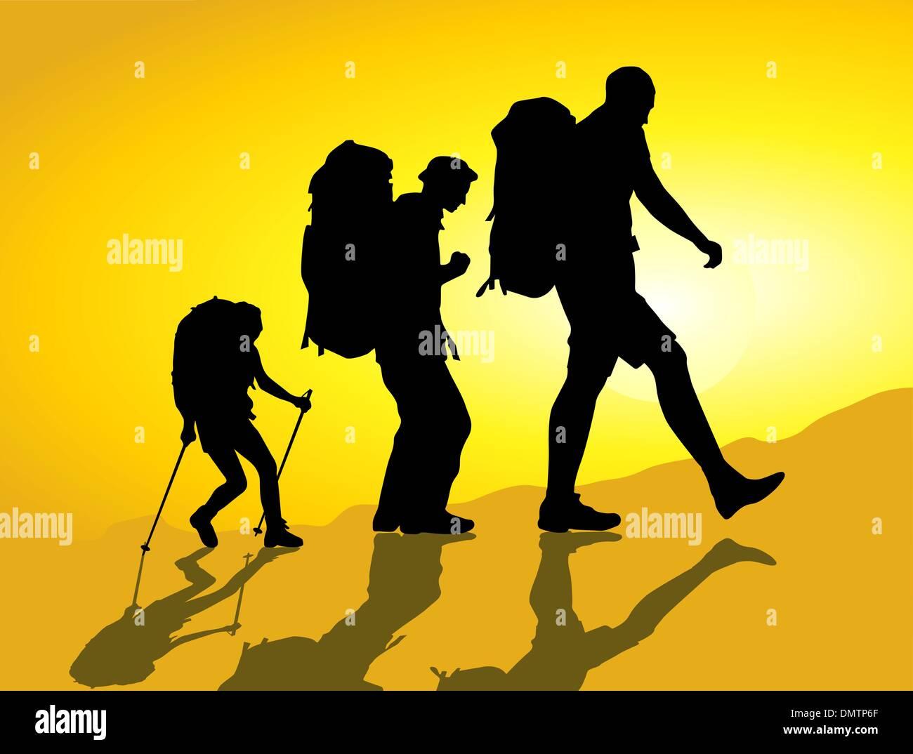 to walk, wander Stock Vector