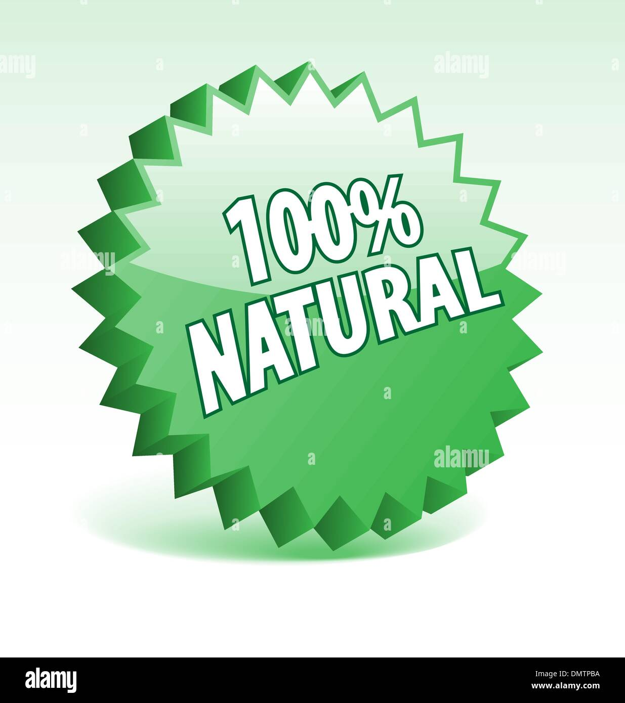 3D green vector badge for promotion, marketing, advertisement. - Stock Image