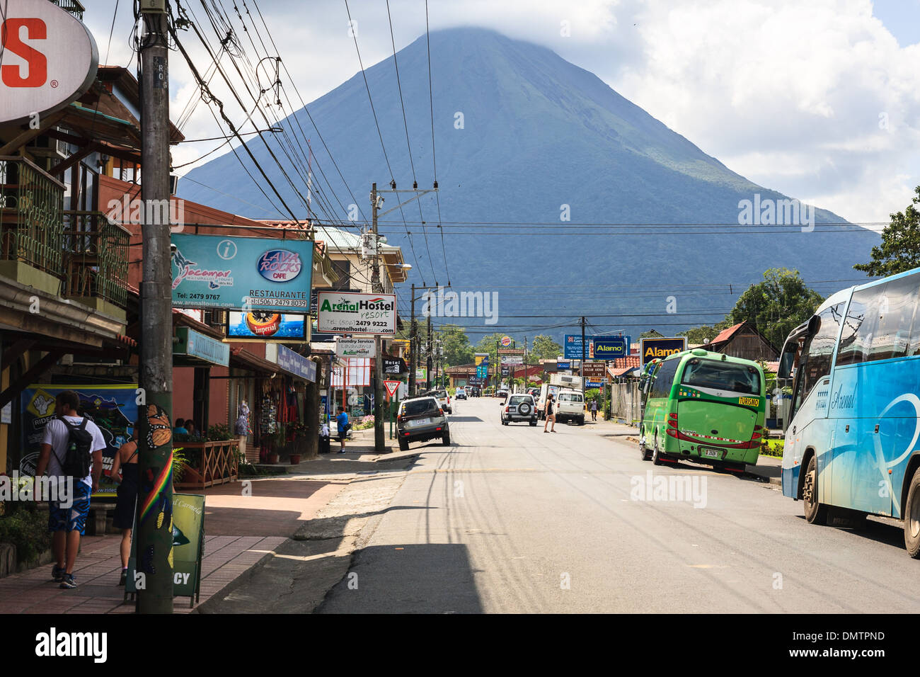 View Of Arenal Volcano From Lafortuna City Costa Rica